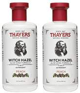 Thayer Peach Witch Hazel Astringent with Aloe Vera, 12 oz. (Pack of 2)