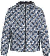 Fendi Logo damier-print lightweight jacket