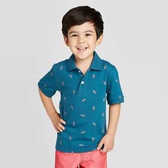 Cat & Jack Toddler Boys' Polo Shirt - Cat & JackTM Navy