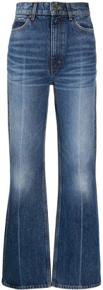 Sandro High-Rise Bootcut Jeans