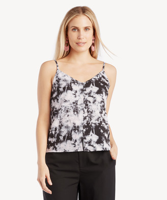 Sanctuary Women's Essential Button Front Tank In Color: Dark Tie Dye Size XS From Sole Society