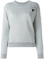 Sonia Rykiel 'heart' patch longsleeved sweatshirt - women - Cotton/Polyamide/Polyester/Viscose - S