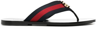 Gucci logo applique T-bar sandals