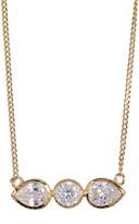 Cole Haan CZ Teardrop & Round Bar Pendant Necklace