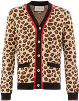Gucci leopard print cardigan