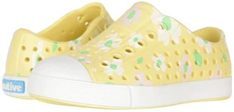 Native Jefferson Print (Toddler/Little Kid) (Gone Bananas Yellow/Shell White/Daisy) Girls Shoes