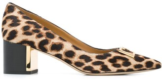 Tory Burch pointed leopard print pumps
