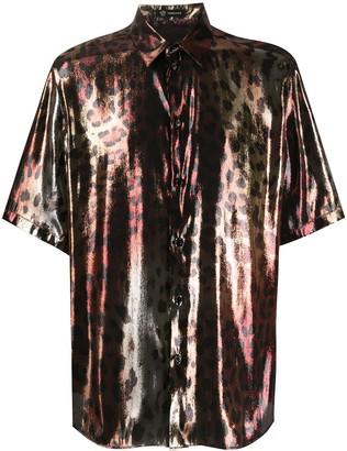 Versace Metallic Leopard Shirt