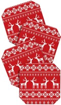 DENY Designs Natt Christmas Red Deer Coaster - Set of 4