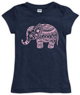 Urban Smalls Navy Boho Elephant Fitted Tee - Toddler & Girls