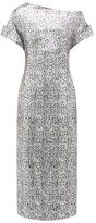 Christopher Kane Asymmetric Snake-print Sequinned Dress - Womens - Silver