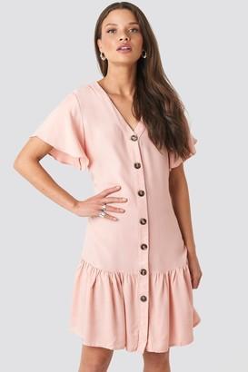 Trendyol Sleeves Flywheel Shirt Dress Pink
