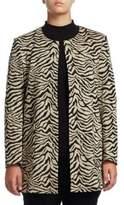 Joan Vass Plus Tiger Snap-Button Coat