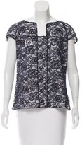 Chanel Guipure Lace Cap Sleeve Top
