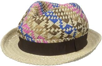 La Fiorentina Women's Straw Fedora Hat