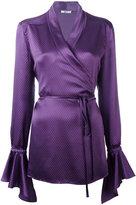 Area wrap blouse - women - Silk - M