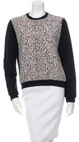 Carven Lace-Accented Pullover Sweatshirt