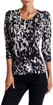 The Kooples Printed Merino Wool Sweater