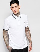 Fred Perry Polo Shirt With Tipping Slim Fit