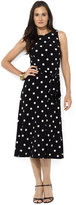 Lauren Ralph Lauren Dress, Sleeveless Polka-Dot Belted Midi