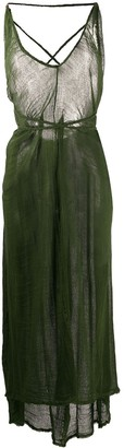 CARAVANA Bolmay tie-embellished maxi dress