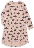 Moi Baby Girl's, Little Girl's & Girl's Bat Print T-Shirt Dress