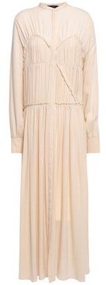 Joseph Jamie Pleated Silk Crepe De Chine Maxi Dress