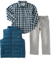 Calvin Klein Little Boys' 3-Pc. Vest, Plaid Shirt & Pants Set