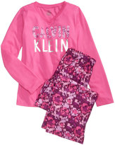 Calvin Klein 2-Pc. Pajama Set, Little Girls (4-6X) & Big Girls (7-16)