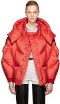 Chen Peng Red Shell Puffer Jacket