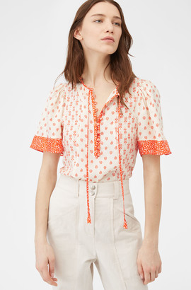 Rebecca Taylor Block Print Mix Top