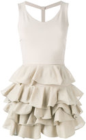 D-Exterior D.Exterior - fitted ruffle dress - women - Cotton/Polyamide/Polyester/Viscose - XS