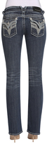 Vigoss Medium Wash & White Rope-Stitch New York Bootcut Jeans