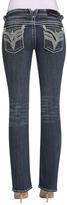 Vigoss Medium Wash & White Rope-Stitch New York Bootcut Jeans