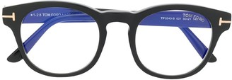 Tom Ford Logo Round Frame Glasses