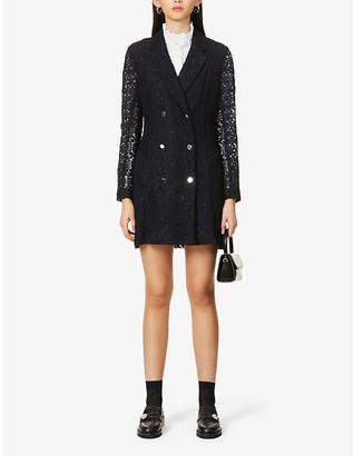 Claudie Pierlot Raspberry cotton-blend mini dress