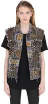 Tom Tom Madonna Studded Denim Vest