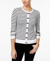 Charter Club Striped Bow-Trim Cardigan, Only at Macy's