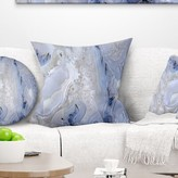 """Abstract Agate Stone Background Pillow East Urban Home Size: 16"""" x 16"""", Product Type: Throw Pillow"""