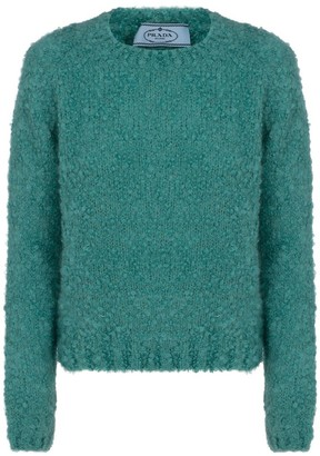 Prada Round Neck Textured Sweater