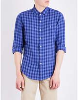 Polo Ralph Lauren Check-print slim-fit linen shirt