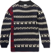 Dries Van Noten Fair Isle Patchwork Wool-Blend Sweater