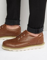Bellfield Oxford Shoes In Tan Leather