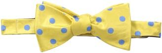 Happy Ties Men's Dot and Engineer Stripe Reversible Bowtie