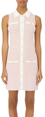 Maje Revisto Knit Shirt Dress