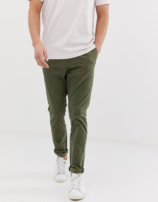 Jack and Jones Intelligence slim fit chinos in green