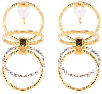 Panconesi Solar Pearl-Detail Earrings