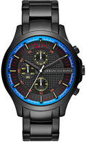 Armani Exchange Men's Chronograph Black Stainless Steel Bracelet Watch 46mm AX2191