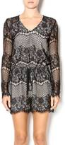 Lucy Paris Black Lace Playsuit