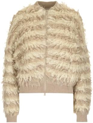 Brunello Cucinelli Fluffy Zipped Cardigan